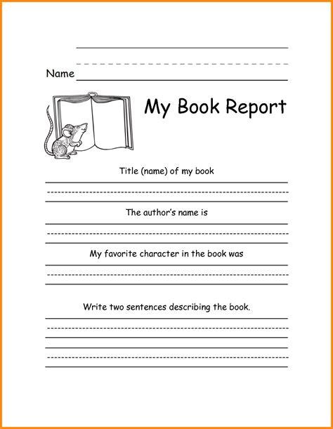 5+ 3rd Grade Book Report Template Driverresume