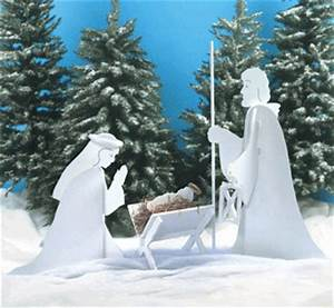 PDF DIY Christmas Manger White Silhouette Outdoor Building