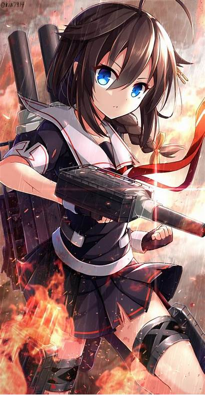 Kantai Shigure Kancolle Anime Wet Desktop Background
