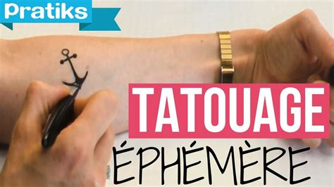 comment faire  tatouage ephemere youtube