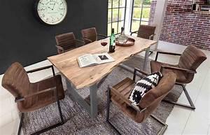 Sofa Für Esszimmertisch : esszimmertisch platte akazie massiv mit baumkante wie ~ Michelbontemps.com Haus und Dekorationen