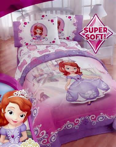 disney sofia the first pink purple twin comforter sheets 4pc bedding set new