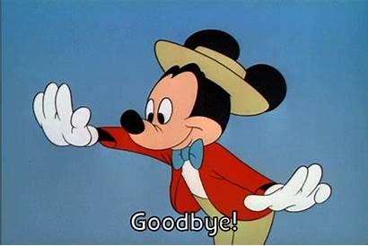 Bye Mouse Mickey Giphy Goodbye Disney Minnie