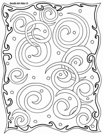 Coloring Alley Doodle Abstract Thankful Template