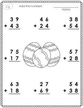 Add the numbers together starting with the ones place. Worksheets • 2-Digit Addition with Regrouping Worksheets ...