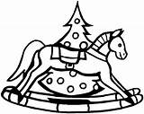 Coloring Horse Rocking Horses Colouring Outline Clip Library Clipart Template sketch template