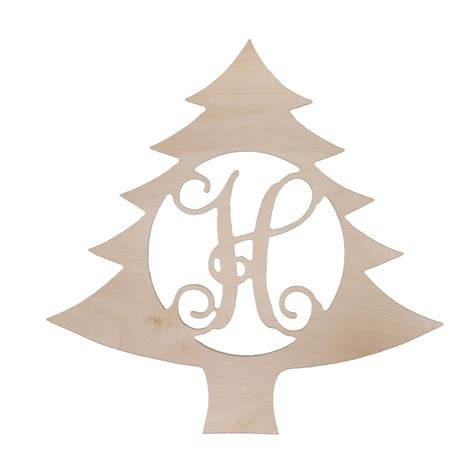 wooden monogram christmas tree home decor letters