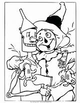 Wizard Oz Coloring Pages Scarecrow Tin Man Ornaments Drawing Christmas Colouring Printable Wicked Witch Being Dorothy Print Land Different Getdrawings sketch template
