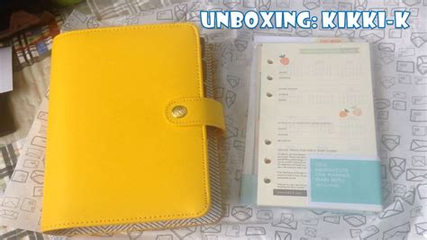 Kikki-k Medium Leather Planner Yellow