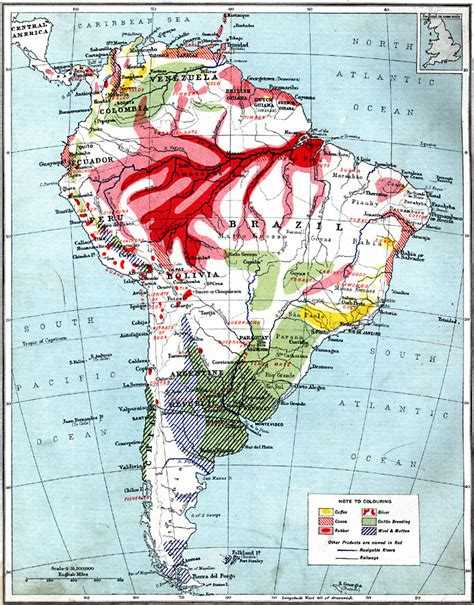 Economic Map Of South America