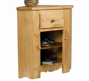 meuble d39angle pin massif brunswick casita 1620 With miroir a poser sur meuble 11 meuble rangement chaussures industriel bois massif et