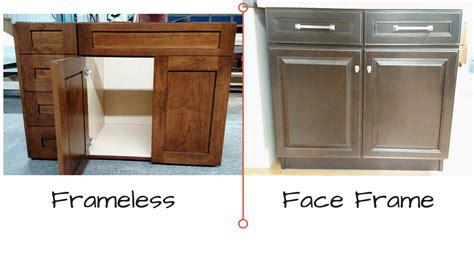 face frame cabinets vs frameless kitchen cabinet basics picking your new kitchen cabinets