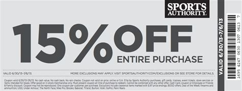 Sports Authority Hawaii Coupons 2018