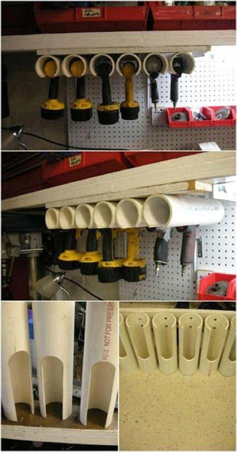 akkuschrauber in der garage sauber aufbewahren die pvc