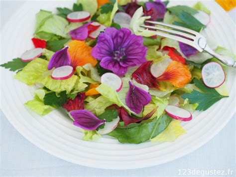 les fleurs comestibles en cuisine salade de fleurs comestibles