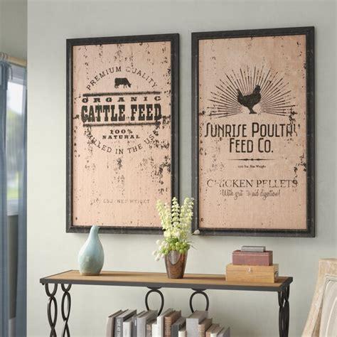 Wall decor home textiles (1809) refine by department: Laurel Foundry Modern Farmhouse 2 Piece Farmhouse Wall Decor Set & Reviews | Wayfair
