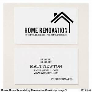 House home remodeling renovation construction business for Renovation business card