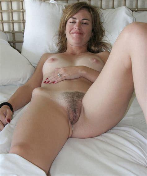 Full Frontal Hairy Granny Pussy Spread