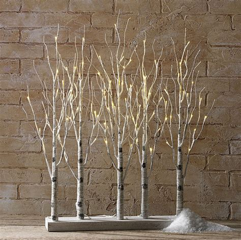 lighted branch tree light decorations indoor birch bark branches