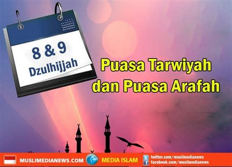 puasa sunnah tarwiyah dan arafah ichwanul muslim web s