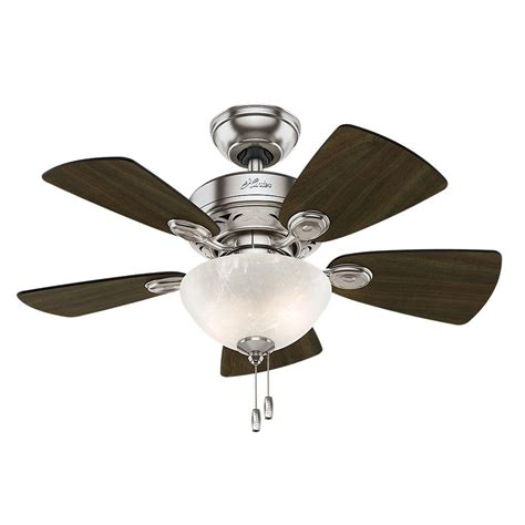d ceiling fan light kits newsome 42 in indoor low profile brushed nickel