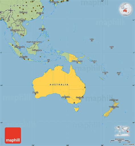 australia  oceania facts map