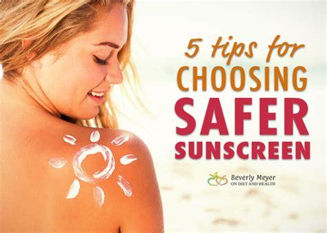 5 Tips For Choosing Safer Sunscreen