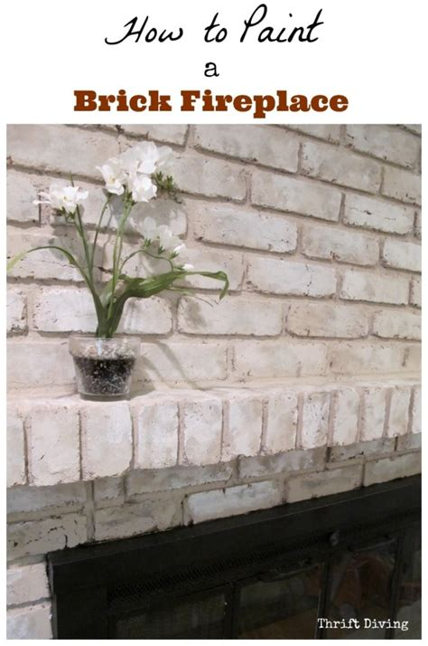 how to paint brick fireplace tutorial how to paint a brick fireplace