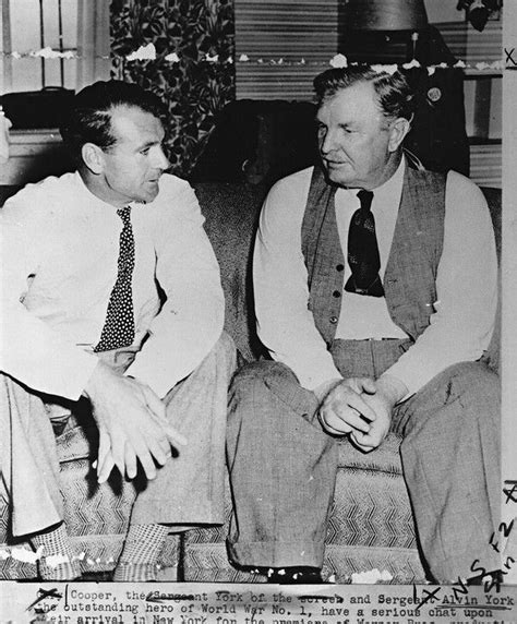 Sgt Alvin York  Gary Cooper And Alvin York Chat Before