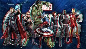 The Avengers In 3D by Geosammy on deviantART