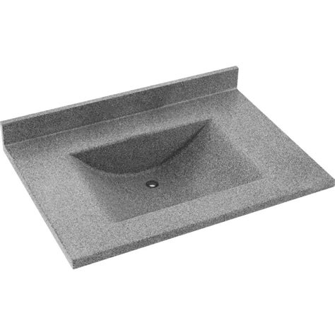 37 vanity top with integrated sink shop swanstone contour gray granite solid surface integral
