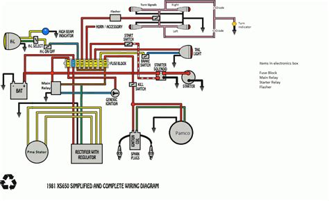 diagram yamaha 650 wiring diagram
