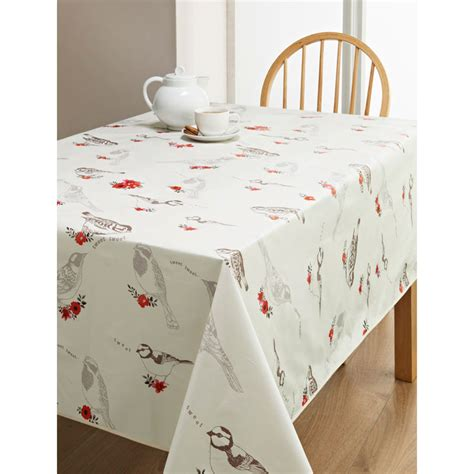 wipe clean table cloth pvc wipe clean tablecloth birds kitchen b m