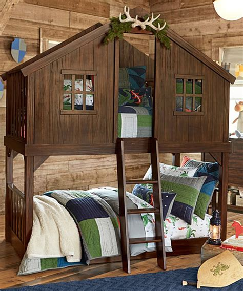 Tree House Bunk Bed  Outdoor Tree Fort Bed