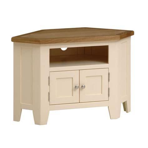 cream corner tv cabinet cheltenham cream painted corner tv unit with 2 doors up