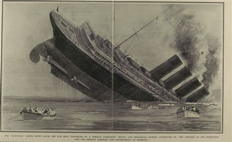 when did the lusitania sink propaganda world war history