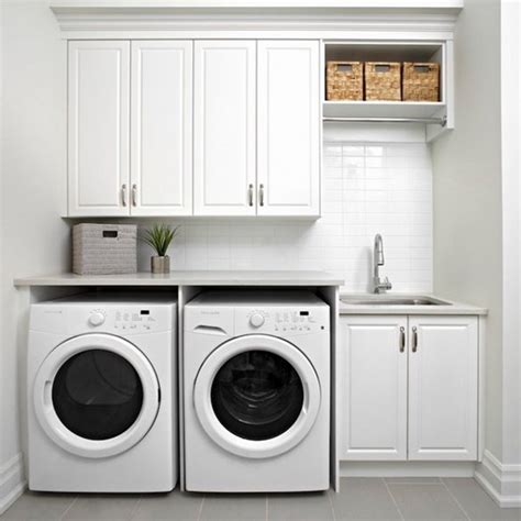 armoire machine a laver prima white paint finish solid wood laundry cabinet design