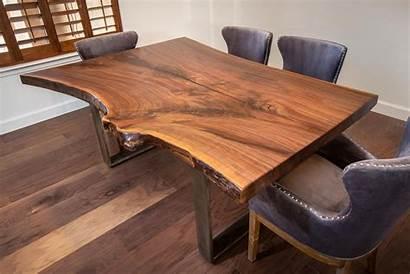 Edge Table Wood Walnut Barn Project