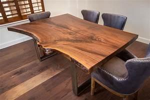 walnut, live, edge, table
