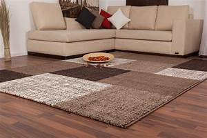 tapis d39interieur patchwork coloris brown lord With tapis de couloir avec canapé lit en solde