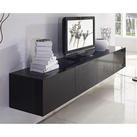 Majeston Floating TV Cabinet in Gloss Black 2.4m   Buy