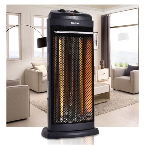 costway infrared electric quartz heater living room space