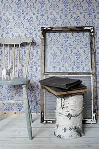 die barock tapete in 48 wunderschonen design ideen With balkon teppich mit tapete weiß blau