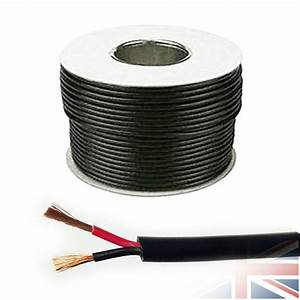 16 5 Amp 12v 1 0mm Round Wall 2 Twin Core Dc Power Cable