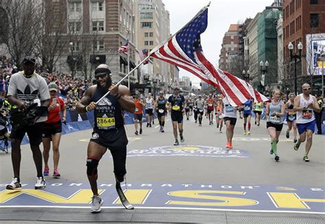 Amputee Marine Ran The Boston Marathon And Carried The ...