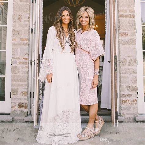 Discount 2017 Boho Beach Wedding Dresses Bohemian Long