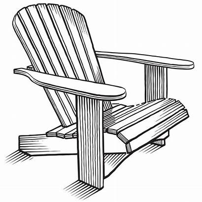 Adirondack Chair Draw Line Clipart Graphic Drawing