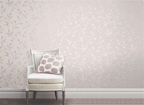Fine Decor Quartz Floral Rose Gold Off White Wallpaper FD42209