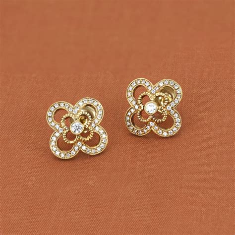 designer jewelry brands leslie greene 18k yellow gold emilia stud earrings