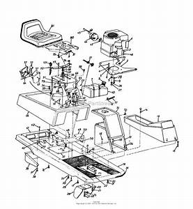 Mtd 13ab560b302  1997  Parts Diagram For Seat  Frame  Fuel Tank